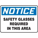 """Accuform MPPA801XT, Sign """"Safety Glasses Required in This Area"""""""