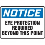 """Accuform MPPA805VS, Sign """"Eye Protection Required Beyond This Point"""""""