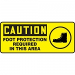 """Accuform MPPE694VP, Sign """"Foot Protection Required in This Area"""""""
