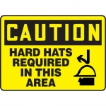 """Accuform MPPE700XT, Sign """"Caution – Hard Hats Required in This Area"""""""