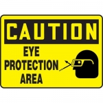 """Accuform MPPE702VS, Vinyl Sign """"Caution – Eye Protection Area"""""""