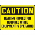 """Accuform MPPE712VS, Sign """"Hearing Protection Required While …"""""""