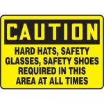 """Accuform MPPE727XT, Safety Sign """"Hard Hats, Safety Glasses…"""""""