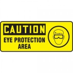 "Accuform MPPE729VS, Vinyl Sign ""Caution – Eye Protection Area"""