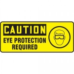 "Accuform MPPE730VP, Plastic Sign ""Caution – Eye Protection Required"""