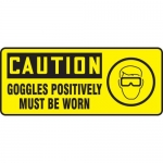 "Accuform MPPE732VP, Plastic Sign ""Goggles Positively Must Be Worn"""