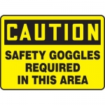 "Accuform MPPE735VA, Sign ""Safety Goggles Required in This Area"""