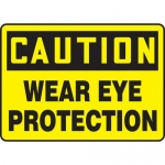 """Accuform MPPE736XP, Accu-Shield Sign """"Caution – Wear Eye Protection"""""""