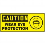 """Accuform MPPE737XL, Aluma-Lite Sign """"Caution – Wear Eye Protection"""""""