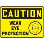 "Accuform MPPE738XL, OSHA Sign ""Caution – Wear Eye Protection"""