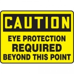 """Accuform MPPE742VS, Sign """"Eye Protection Required Beyond This Point"""""""
