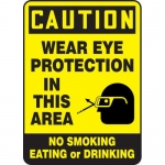 "Accuform MPPE743XP, Sign ""Wear Eye Protection in This Area, No …"""