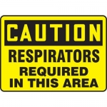"""Accuform MPPE753VP, Sign """"Caution – Respirators Required in This Area"""""""