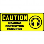 """Accuform MPPE761XL, Sign """"Caution – Hearing Protection Required"""""""