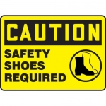 "Accuform MPPE763VP, Plastic Sign ""Caution – Safety Shoes Required"""