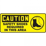 "Accuform MPPE764VP, Plastic Sign ""Caution – Safety Shoes Required"""