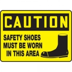 """Accuform MPPE766VP, OSHA Sign """"Safety Shoes Must Be Worn in This Area"""""""