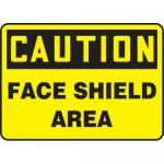 "Accuform MPPE768XL, Aluma-Lite Sign ""Caution – Face Shield Area"""