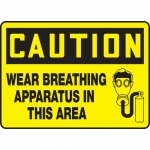 """Accuform MPPE769XL, Sign """"Wear Breathing Apparatus in This Area"""""""