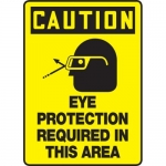 """Accuform MPPE770XL, Sign """"Eye Protection Required in This Area"""""""