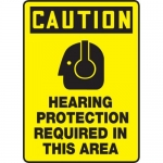 """Accuform MPPE772VS, Sign """"Hearing Protection Required in This Area"""""""