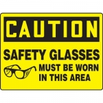 """Accuform MPPE779XT, BIGSigns Sign """"Safety Glasses Must Be Worn in…"""""""