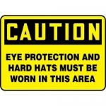 """Accuform MPPE793XT, Sign """"Eye Protection and Hard Hats Must Be …"""""""