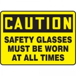 """Accuform MPPE798XF, Sign """"Safety Glasses Must Be Worn at All Times"""""""