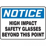 """Accuform MPPE802XT, Sign """"High Impact Safety Glasses Beyond …"""""""