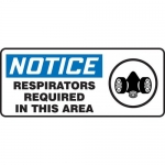 """Accuform MPPE814XP, Sign """"Notice – Respirators Required in This Area"""""""