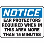 """Accuform MPPE818VP, Sign """"Ear Protectors Required When in This …"""""""