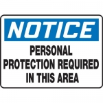 "Accuform MPPE823VS, Sign ""Personal Protection Required in This Area"""