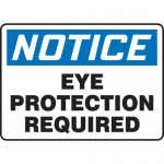 """Accuform MPPE825VS, Vinyl Sign """"Notice – Eye Protection Required"""""""
