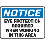 """Accuform MPPE827VS, Sign """"Eye Protection Required When Working in…"""""""