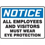 """Accuform MPPE828XL, Sign """"All Employees and Visitors Must Wear …"""""""