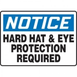 """Accuform MPPE833XT, Sign """"Hard Hat & Eye Protection Required"""""""