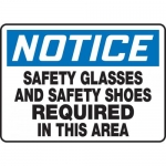 "Accuform MPPE835XT, Sign ""Safety Glasses and Safety Shoes Required…"""