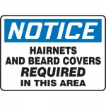 """Accuform MPPE842XF, Sign """"Hairnets and Beard Covers Required in …"""""""
