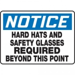 """Accuform MPPE845XT, Sign """"Hard Hats and Safety Glasses Required …"""""""