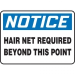 """Accuform MPPE846XF, Sign """"Hair Net Required Beyond This Point"""""""