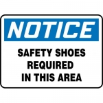"""Accuform MPPE863XF, Sign """"Notice – Safety Shoes Required in This Area"""""""