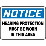 """Accuform MPPE865XL, Sign """"Hearing Protection Must Be Worn in This …"""""""