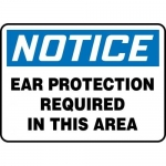 """Accuform MPPA810XP, Sign """"Notice Ear Protection Required in This Area"""""""