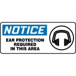 """Accuform MPPA811XL, Sign """"Notice Ear Protection Required in This Area"""""""