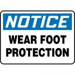 "Accuform MPPA815XL, Aluma-Lite Sign ""Notice Wear Foot Protection"""