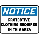 """Accuform MPPA816VP, Sign """"Protective Clothing Required in This Area"""""""