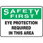"""Accuform MPPA900XP, Sign """"Eye Protection Required in This Area"""""""