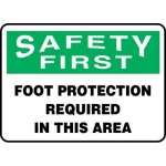 """Accuform MPPA903VS, Vinyl Sign """"Foot Protection Required in this Area"""""""