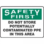 """Accuform MPPA909XP, Sign """"Do Not Store Potentially Contaminated …"""""""