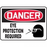 """Accuform MPPE005XT, Dura-Plastic Sign """"Eye Protection Required"""""""